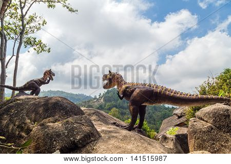 Dinosaur In Moutains