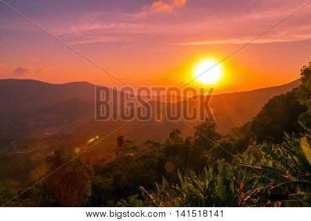 Colorful Landscape Scenery Mountains