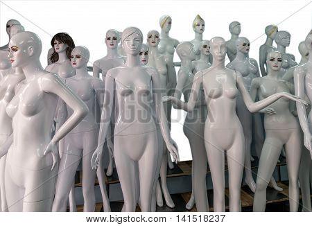 Undressed Mannequins
