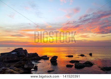 Tropical Rock Beach