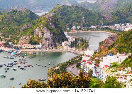Port Cat Ba Island At Halong Bay, Vietnam
