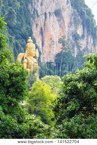 The Batu Caves Lord Murugan In Kuala Lumpur, Malaysia.