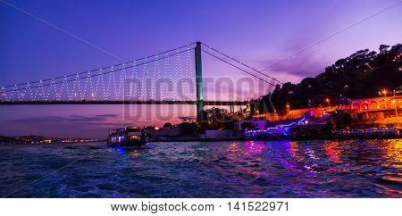 Bosphorus Bridge At Sunse