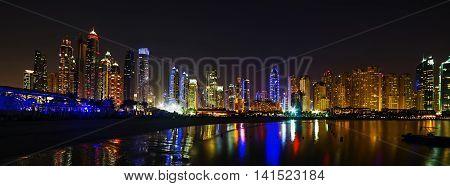 Dubai Marina Cityscape United Arab Emirates Architecture