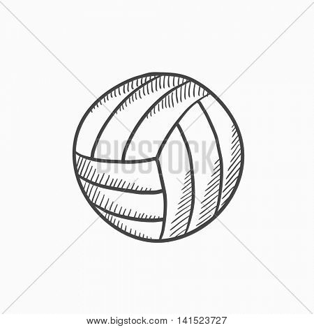 Volleyball ball vector sketch icon isolated on background. Hand drawn Volleyball ball icon. Volleyball ball sketch icon for infographic, website or app.