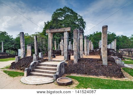 Ancient Ruins In Polonnaruwa City Temple Unesco
