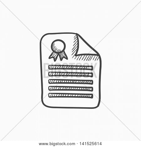 Real estate contract vector sketch icon isolated on background. Hand drawn Real estate contract icon. Real estate contract sketch icon for infographic, website or app.