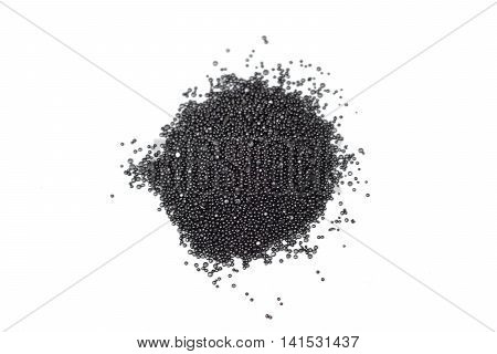 A pile of gunpowder isolated on white background