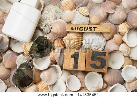 summer sea beaches and holidays at 15 of august