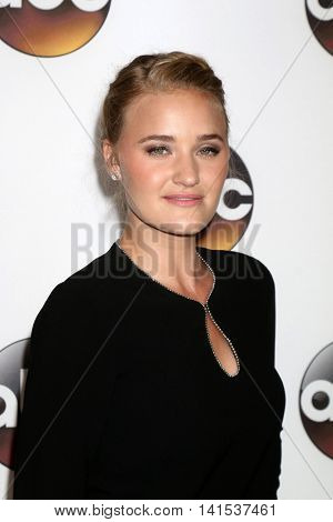 LOS ANGELES - AUG 4:  AJ Michalka at the ABC TCA Summer 2016 Party at the Beverly Hilton Hotel on August 4, 2016 in Beverly Hills, CA
