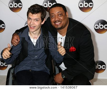 LOS ANGELES - AUG 4:  Micah Fowler, Cedric Yarbrough at the ABC TCA Summer 2016 Party at the Beverly Hilton Hotel on August 4, 2016 in Beverly Hills, CA