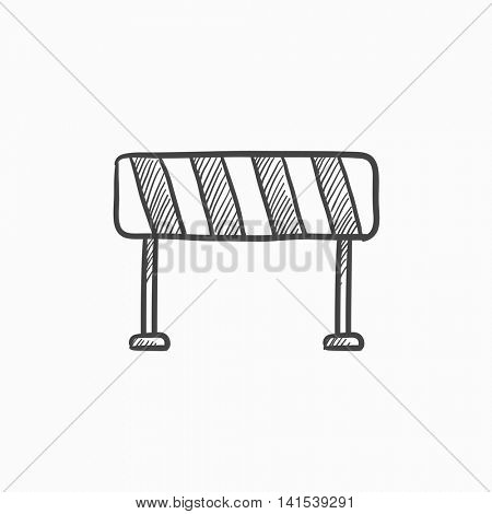 Road barrier vector sketch icon isolated on background. Hand drawn Road barrier icon. Road barrier sketch icon for infographic, website or app.
