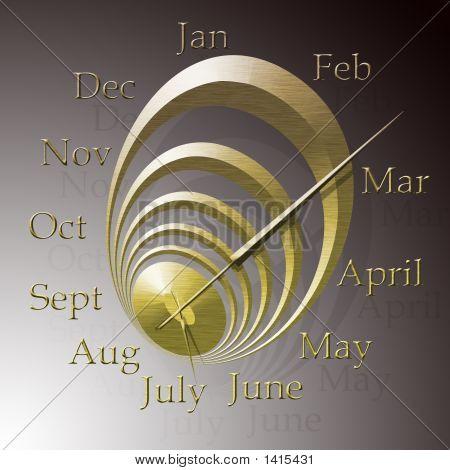 Verzerrte Monate Uhr