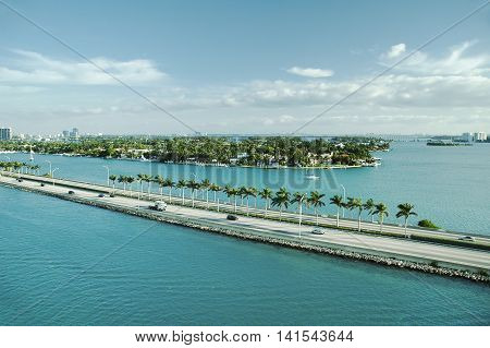 Panoramic view of Port Everglades, Fort Lauderdale, USA