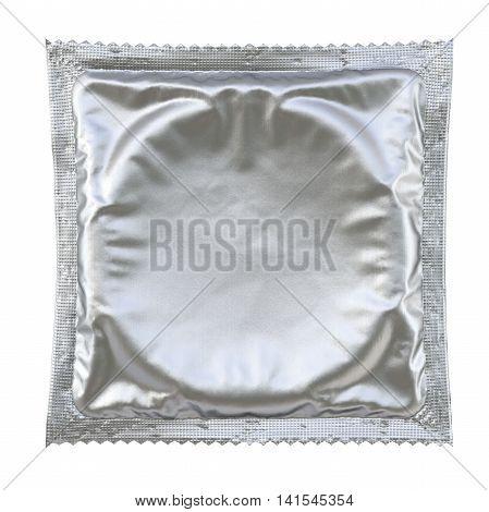 Condom isolated on white background. 3D illustration.