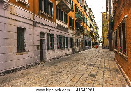 Street View In Venice, Italy
