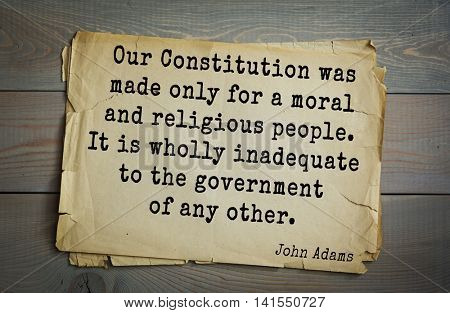 American president John Adams (1753-1826) quote.