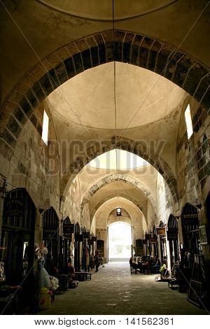 TARSUS, Turkey - JUNE 22, 2016: Interior shot of old bazaar. Editorial image