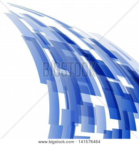 Abstract dark blue elements technology background, stock vector