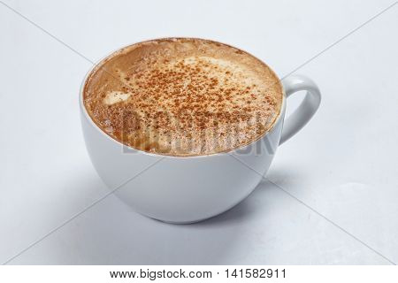 cappuccino on the white background