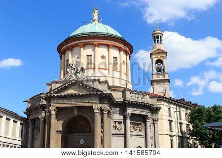 Church Santa Maria Immacolata Delle Grazie In Bergamo, Italy