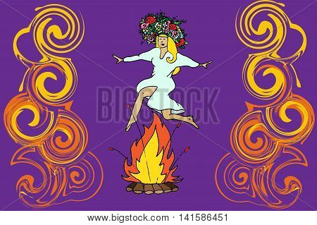 Girl Jumping Through Fire