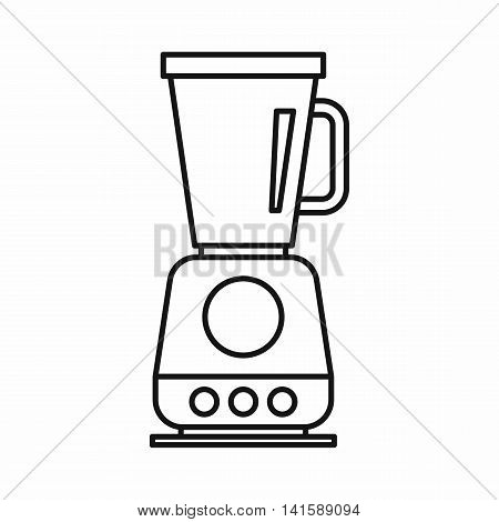 Food processor, mixer, blender icon in outline style isolated on white background