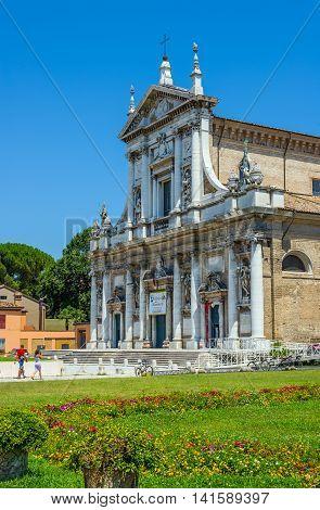 Basilica Of Santa Maria In Porto In Ravenna, Emilia-romagna. Italy.