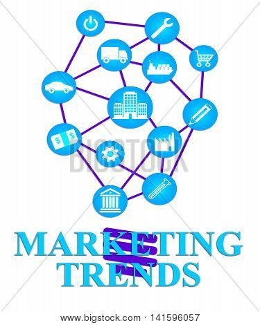 Marketing Trends Shows E-marketing E-commerce And Seo