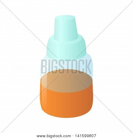 Refill bottle icon in cartoon style on a white background