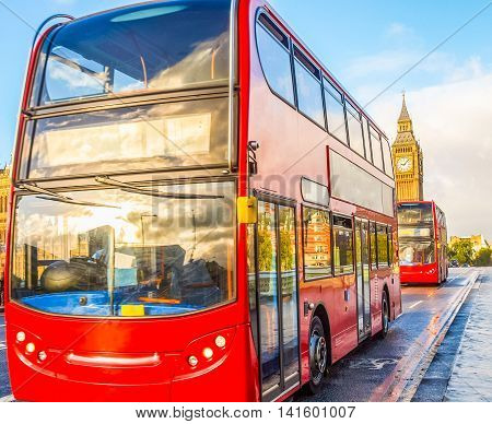 Red Bus In London Hdr