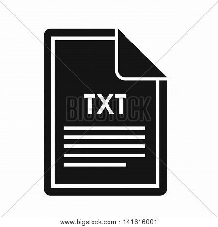 File TXT icon in simple style isolated on white background. Document type symbol