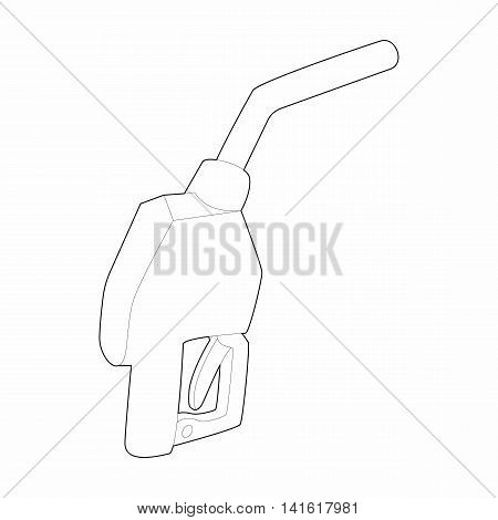 Gun for refueling icon in outline style isolated on white background. Refuel symbol