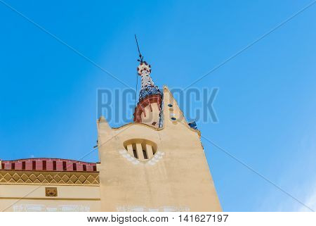 Pointy Church Tower Under Blue Sky