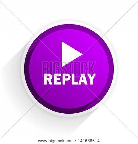 replay flat icon