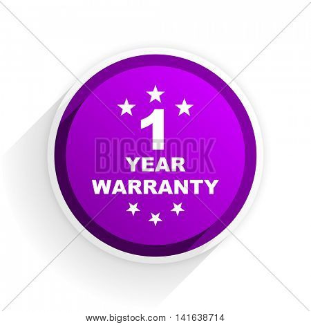 warranty guarantee 1 year flat icon