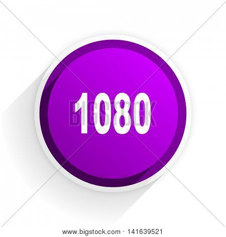 1080 flat icon
