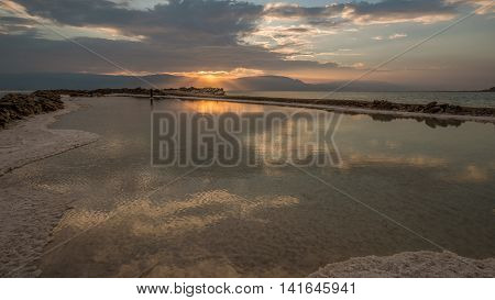 Sunrise at low place...  Photographed at Dead sea, the lowest place on the Earth minus 423 m,  minus 1,388 ft.