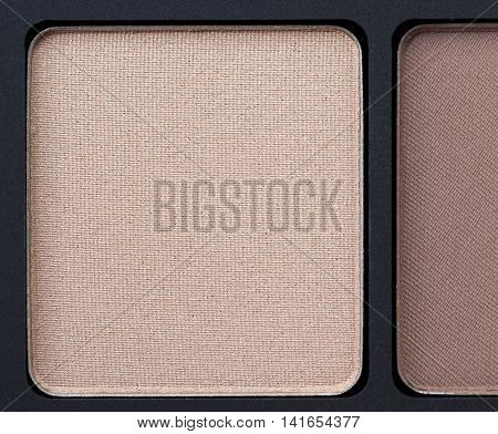 decorative cosmetic, eye shadow photographed close-up, disfocus