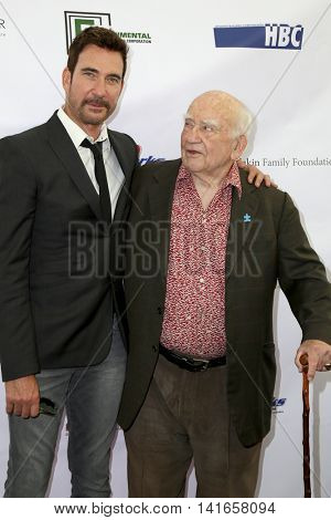 LOS ANGELES - AUG 6:  Dylan McDermott, Ed Asner at the 4th Annual Ed Asner And Friends Poker Tournament For Autism Speaks at the South Park Center  on August 6, 2016 in Los Angeles, CA