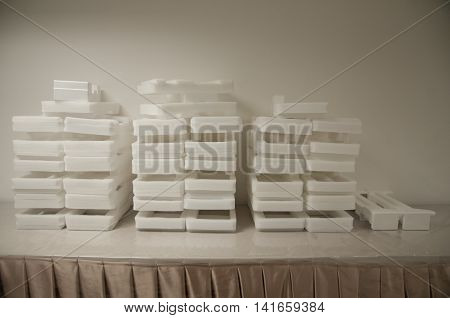 White Plastic Foam for soft packing material