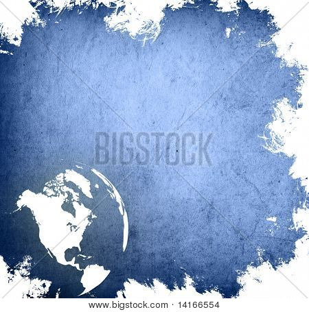 aged America map-grunge artwork poster