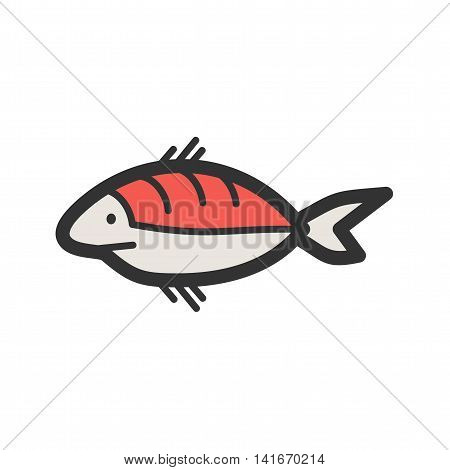 Shark, white, ocean icon vector image. Can also be used for sea. Suitable for use on web apps, mobile apps and print media.