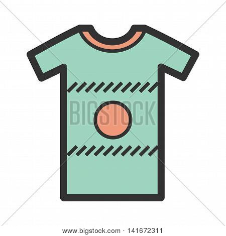 Pattern, shirt, casual icon vector image. Can also be used for hipster. Suitable for web apps, mobile apps and print media.