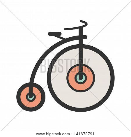 Bicycle, bike, sport icon vector image. Can also be used for hipster. Suitable for use on web apps, mobile apps and print media.
