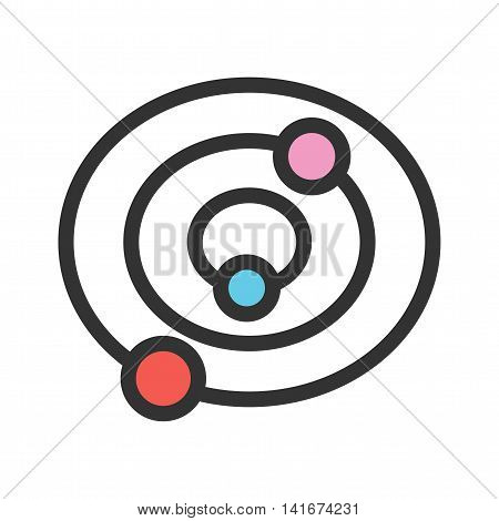 Solar, system, planets icon vector image. Can also be used for astronomy. Suitable for use on web apps, mobile apps and print media.