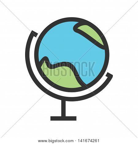 Globe, science, education icon vector image. Can also be used for astronomy. Suitable for use on web apps, mobile apps and print media.