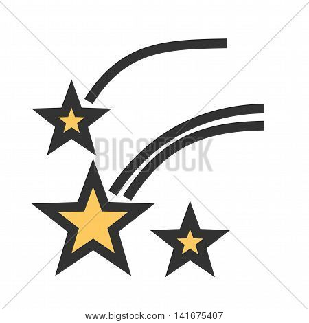 Sky, star, night icon vector image.Can also be used for astronomy. Suitable for use on web apps, mobile apps and print media.