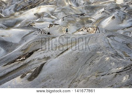 Arid Landscape Defined by Volcanic Eruption at Mt. Bromo Tengger Semeru National Park East Java Indonesia.