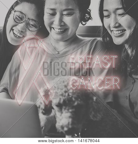 Breast Cancer Hope Healthcare Believe Concept poster
